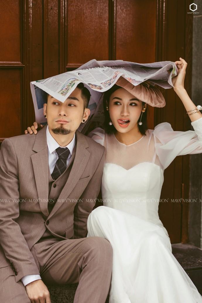 文艺复古婚纱照系列,带你回到暇意的旧时光!